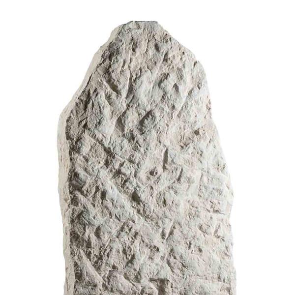 Stèle pierre éclatée, ocre