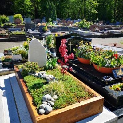 Un monument funéraire paysager
