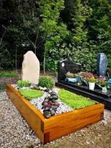 Une sépulture en bois