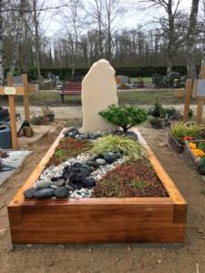 Une tombe-jardin