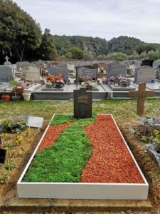 Une tombe végétale