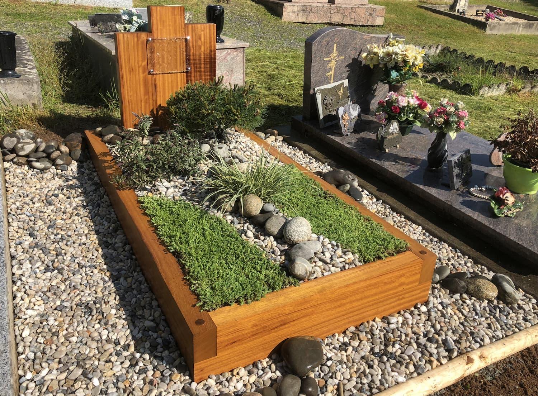 Une tombe paysagère végétale