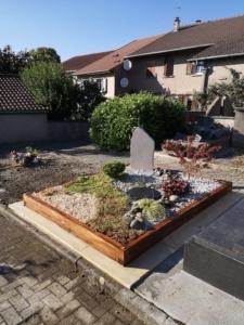 Un jardin funéraire