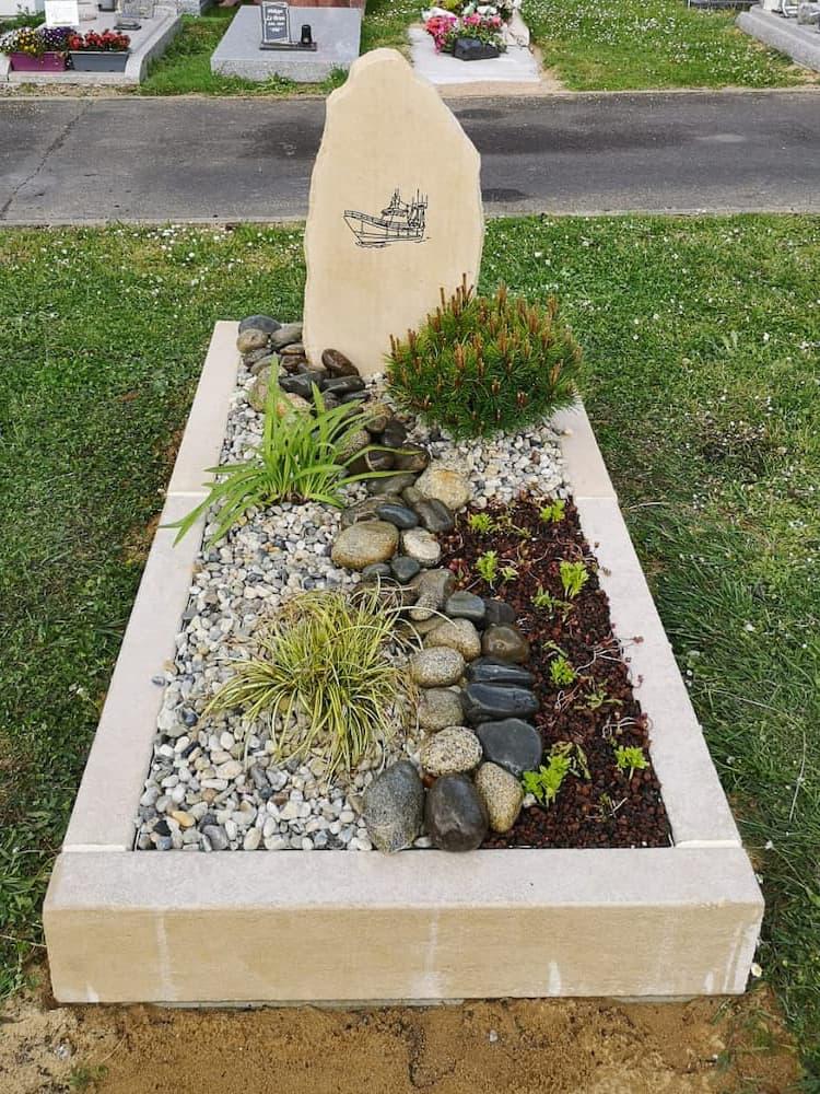De la conception à la réalisation d'une tombe paysagère